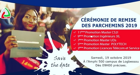 IUC : Invitation à la cérémonie de remise des parchemins du 19/10/2019