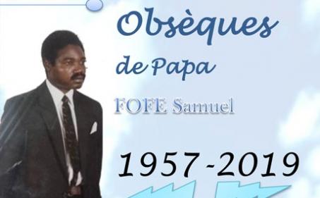 Avis de décès et programme des obsèques de Papa FOFE Samuel