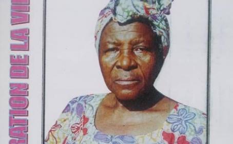 Avis de décès et programme des obsèques de la matriarche JIONANG Julienne veuve KITIO Pierre