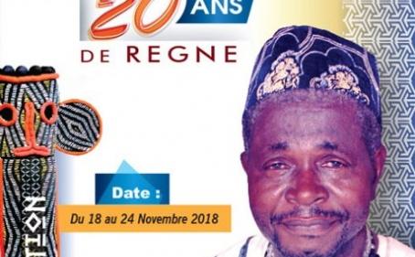 Annonce : Célébration des 20 ans de règne de Fo'o Ndziih DONFACK Fabien de Douala et installation de Ma'ah METCHUETE MEZAMO Nicole Valérie